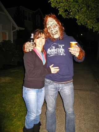 Squatch Goes Trick or Treating