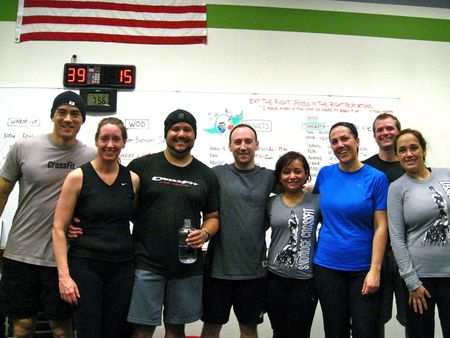 Sangeeta and her birthday WOD crew