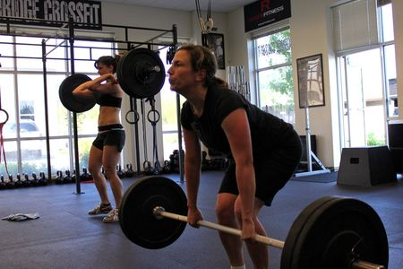 Michelle and Emily_Power Clean