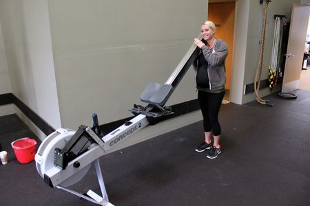 Jenna and her Rower