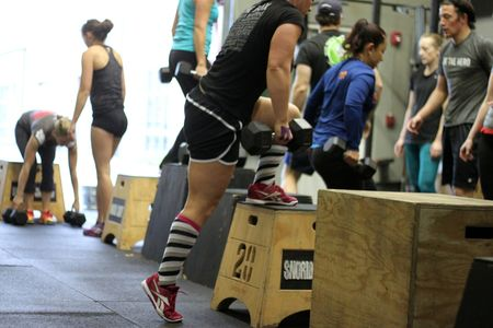 DB Burpee Box Up and Over