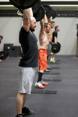 Power Cleans and Thrusters