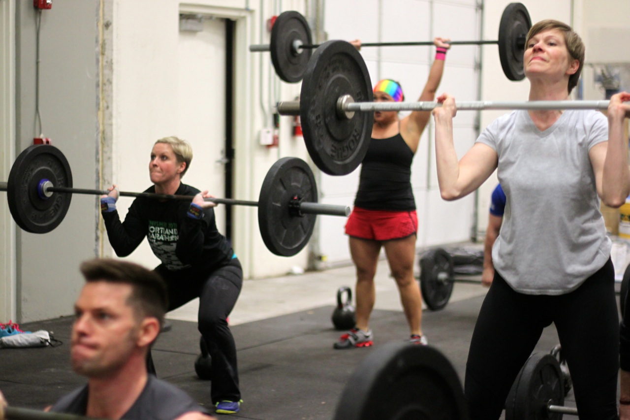 bear complex snoridge crossfit thrusters