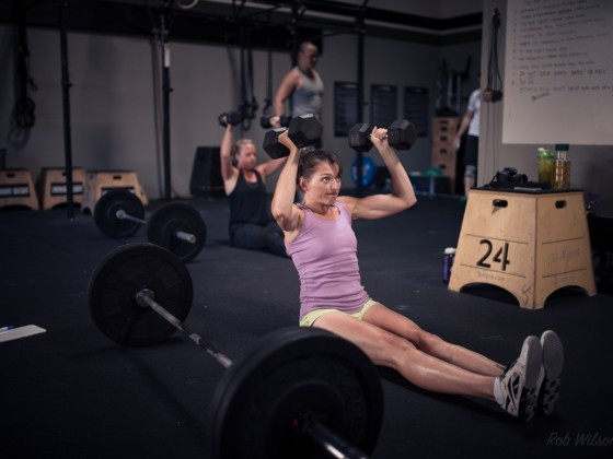 SnoRidge CrossFit_Seated Press by Rob W