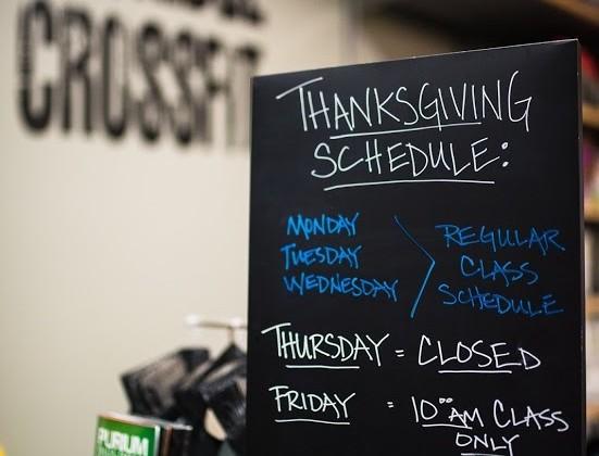 SnoRidge CF_TurkeyDay Schedule