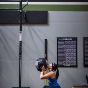 SnoRidge CrossFit_Wall Ball_Lisa