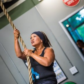 SnoRidge CrossFit_Rope Climb