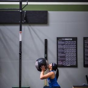 SnoRidge CrossFit_Wall Ball_Lisa
